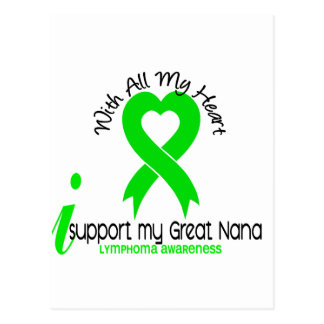 LYMPHOMA I Support My Great Nana Postcard