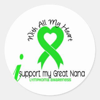 LYMPHOMA I Support My Great Nana Stickers