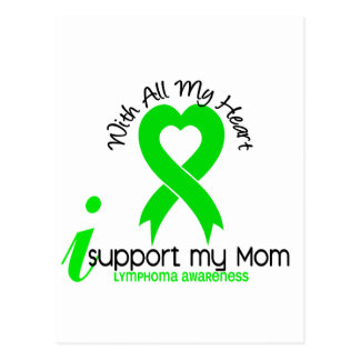 LYMPHOMA I Support My Mom Postcard
