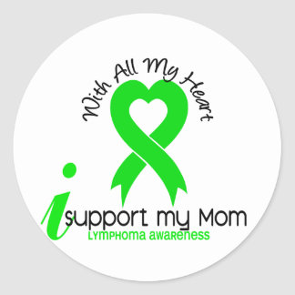 LYMPHOMA I Support My Mom Round Sticker