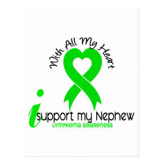 LYMPHOMA I Support My Nephew Postcard