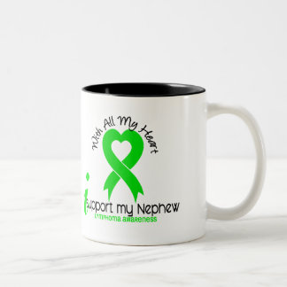 LYMPHOMA I Support My Nephew Two-Tone Coffee Mug