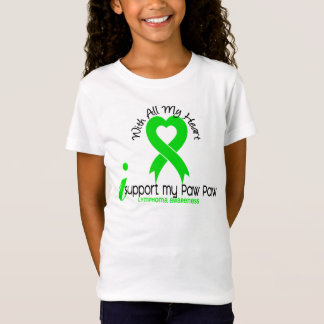 LYMPHOMA I Support My Paw Paw T-Shirt