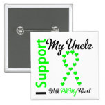 Lymphoma I Support My Uncle 2 Inch Square Button