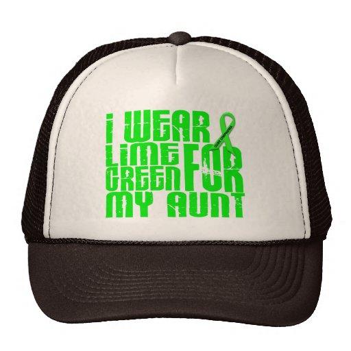 Lymphoma I WEAR LIME GREEN 16 Aunt Trucker Hat