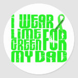 Lymphoma I WEAR LIME GREEN 16 Dad Round Stickers