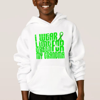 Lymphoma I WEAR LIME GREEN 16 Grandma Hoodie