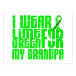 Lymphoma I WEAR LIME GREEN 16 Grandpa Postcards