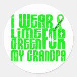 Lymphoma I WEAR LIME GREEN 16 Grandpa Sticker