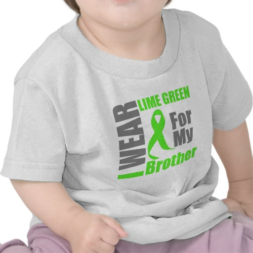 Lymphoma I Wear Lime Green Brother T Shirts