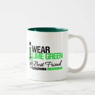 Lymphoma I Wear Lime Green For Best Friend Mugs