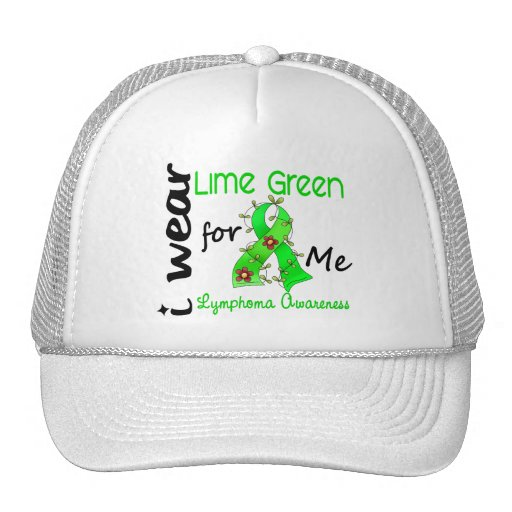 Lymphoma I Wear Lime Green For ME 43 Hats