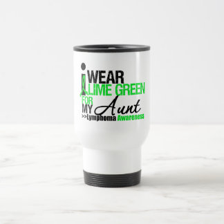 Lymphoma I Wear Lime Green For My Aunt 15 Oz Stainless Steel Travel Mug