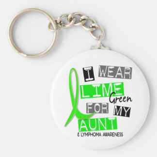 Lymphoma I Wear Lime Green For My Aunt 37 Key Chains