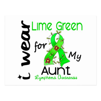 Lymphoma I Wear Lime Green For My Aunt 43 Postcard