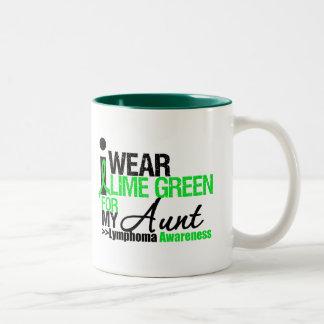 Lymphoma I Wear Lime Green For My Aunt Coffee Mug