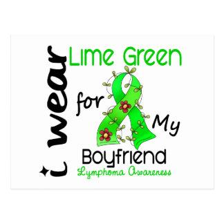 Lymphoma I Wear Lime Green For My Boyfriend 43 Postcard