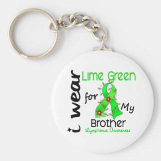 Lymphoma I Wear Lime Green For My Brother 43 Keychains