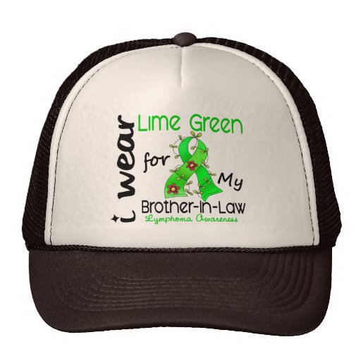 Lymphoma I Wear Lime Green For My Brother-In-Law 4 Mesh Hat