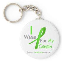 Lymphoma I Wear Lime Green For My Cousin Keychain