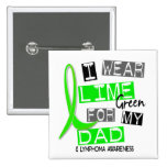Lymphoma I Wear Lime Green For My Dad 37 Pinback Button