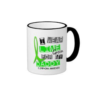 Lymphoma I Wear Lime Green For My Daddy 37 Ringer Mug