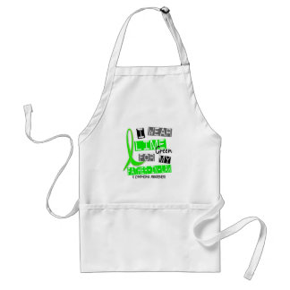 Lymphoma I Wear Lime Green For My Father-In-Law 37 Adult Apron