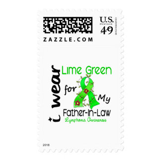Lymphoma I Wear Lime Green For My Father-In-Law 43 Stamps