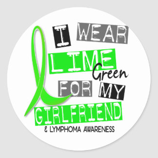 Lymphoma I Wear Lime Green For My Girlfriend 37 Classic Round Sticker