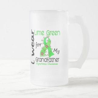 Lymphoma I Wear Lime Green For My Grandfather 43 Mug