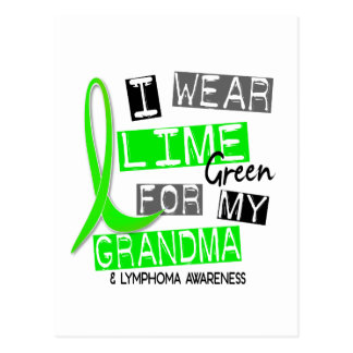 Lymphoma I Wear Lime Green For My Grandma 37 Postcard