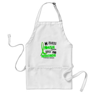 Lymphoma I Wear Lime Green For My Grandmother 37 Adult Apron