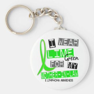Lymphoma I Wear Lime Green For My Mother-In-Law 37 Keychain