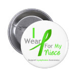 Lymphoma I Wear Lime Green For My Niece Pinback Button
