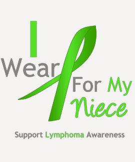 Lymphoma I Wear Lime Green For My Niece Tshirts