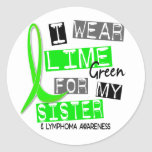 Lymphoma I Wear Lime Green For My Sister 37 Stickers