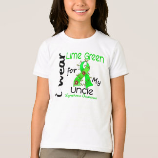 Lymphoma I Wear Lime Green For My Uncle 43 T-Shirt