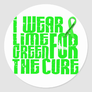 Lymphoma I WEAR LIME GREEN FOR THE CURE 16 Stickers