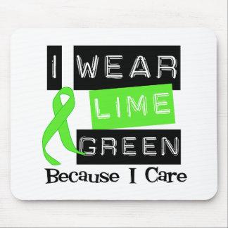 Lymphoma I Wear Lime Green Ribbon Because I Care Mouse Pad