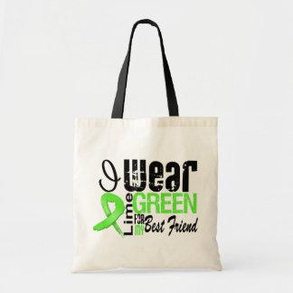 Lymphoma I Wear Lime Green Ribbon BEST FRIEND Budget Tote Bag