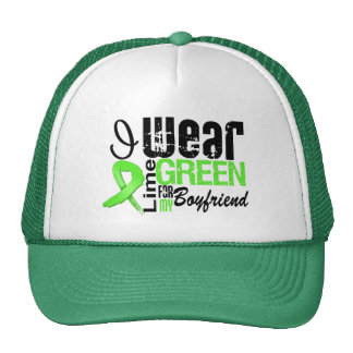 Lymphoma I Wear Lime Green Ribbon BOYFRIEND Trucker Hat