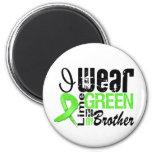 Lymphoma I Wear Lime Green Ribbon BROTHER Refrigerator Magnet
