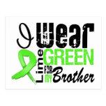 Lymphoma I Wear Lime Green Ribbon BROTHER Postcard