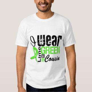 Lymphoma I Wear Lime Green Ribbon COUSIN T-shirt