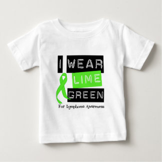 Lymphoma I Wear Lime Green Ribbon For Awareness Baby T-Shirt