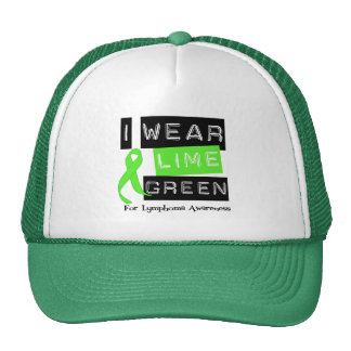 Lymphoma I Wear Lime Green Ribbon For Awareness Trucker Hat