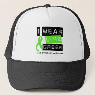 Lymphoma I Wear Lime Green Ribbon For Awareness Trucker Hat