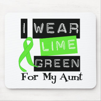Lymphoma I Wear Lime Green Ribbon For My Aunt Mouse Pad