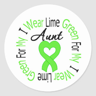 Lymphoma I Wear Lime Green Ribbon For My Aunt Stickers