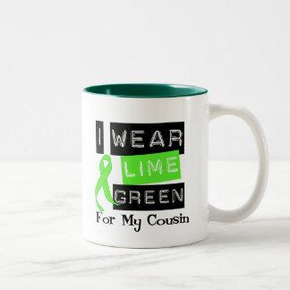 Lymphoma I Wear Lime Green Ribbon For My Cousin Two-Tone Coffee Mug